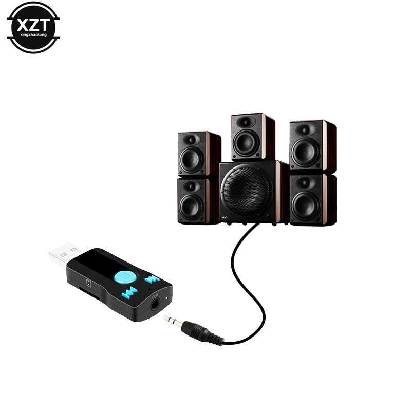 Aux USB Draadloze Bluetooth 3.0 Adapter Stereo MP3 Audio Ontvanger voor Auto Bluetooth Handsfree Car Kit Speaker Gebruiken voor SD kaart