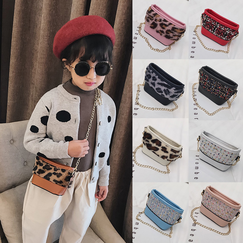 Baby Girls Mini Messenger Bag Leopard Pattern Kids Baby Small Coin Purses Children Handbags Shoulder Bags
