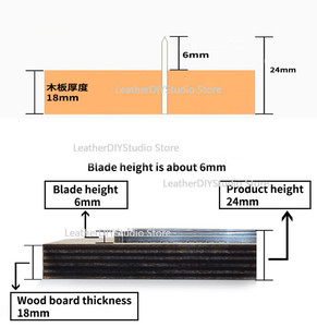 Image 4 - Japan Steel Blade Blank Luggage Tags Leather Lable Die Cut Rule Cutter Mold for DIY Leather Punch Crafts Tool 40x80mm