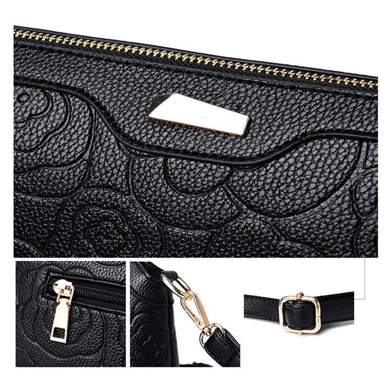 Женские сумки-мессенджеры в винтажном стиле, новая модная Маленькая кожаная женская сумка-конверт с тиснением, сумка через плечо с цветочным рисунком для женщин