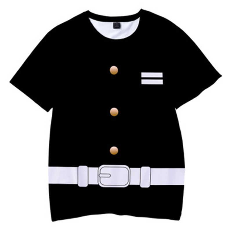 Di estate Dei Capretti Demone Slayer 3D T Shirt Anime Cosplay T-Shirt Dei Ragazzi vestiti delle ragazze cosplay casuale Manica Corta Lama di Fantasma top