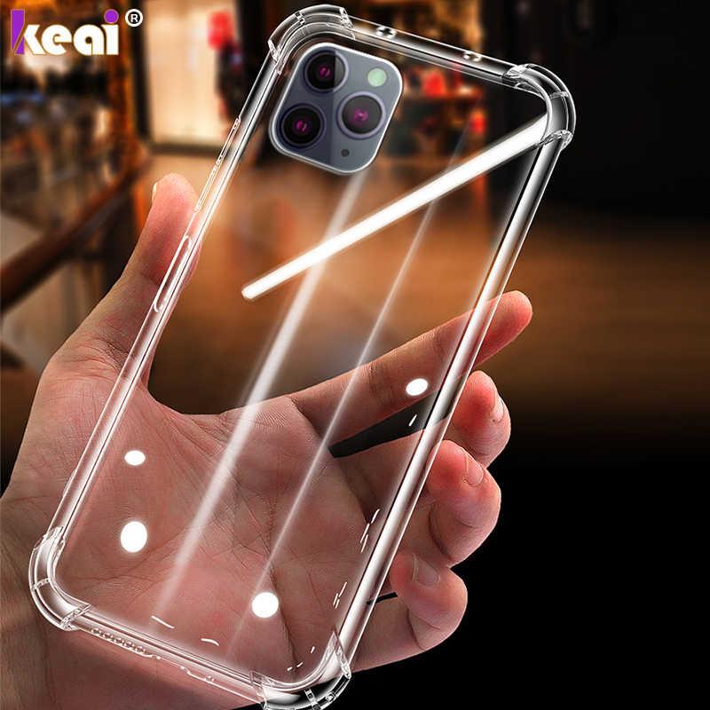 Funda de teléfono de silicona TPU suave para iPhone 11 Pro MAX a prueba de golpes funda para iPhone 8 7 6 6s 5 5S SE X XR XS MAX funda protectora bolsa
