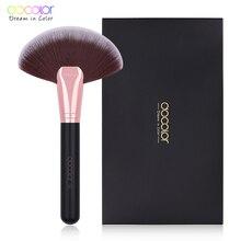 Docolor brosse de maquillage souple avec grand éventail, brosse pour fond de teint, Blush, Blush et poudre, accessoire cosmétique, 1 pièce
