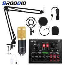 Neue BM800 Kondensator Mikrofon Mischer Audio Studio Aufnahme Karaoke MIC Stand USB Bluetooth Aufnahme Berufs Spiel Bm800Mic