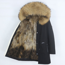 Coat Winter Jacket Waterproof Parka Real-Fur Outerwear Warm Thick Men OFTBUY Detachable