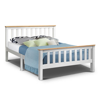 200 X 147cm Artiss Double Full Size Wooden Bed Frame PONY Timber Mattress Base Bedroom Kids Stylish Bed White AU