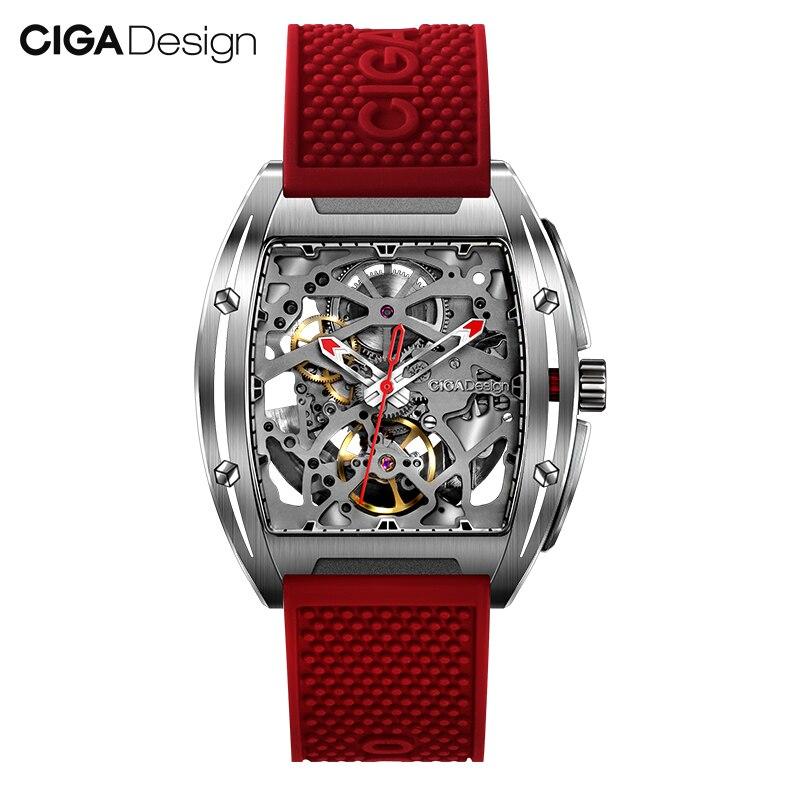 Original xiaomi mijia ciga design z 시리즈 남성용 스마트 시계 시계 자동 기계식 시계 자체 바람 손목 시계 smartwatch