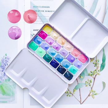 Cukierki kolor akwarela box 24 kolory 1ml przenośny mini akwarela dla początkujących dostaw sztuki tanie i dobre opinie CN (pochodzenie) SCH-01 pink blue