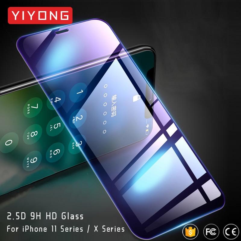 25 шт./лот YIYONG HD закаленное стекло для iPhone 11 Pro Max Защитное стекло для экрана для iPhone X XR XS Max X S iPhone11 Max 11 стеклоЗащитные стёкла и плёнки    АлиЭкспресс