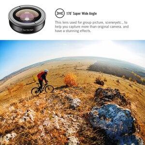 Image 5 - Apexel 5 em 1 kit lente da câmera do telefone profissional hd olho de peixe lente macro super grande angular para xiaomi redmi nota 5 pro iphone x 7 s