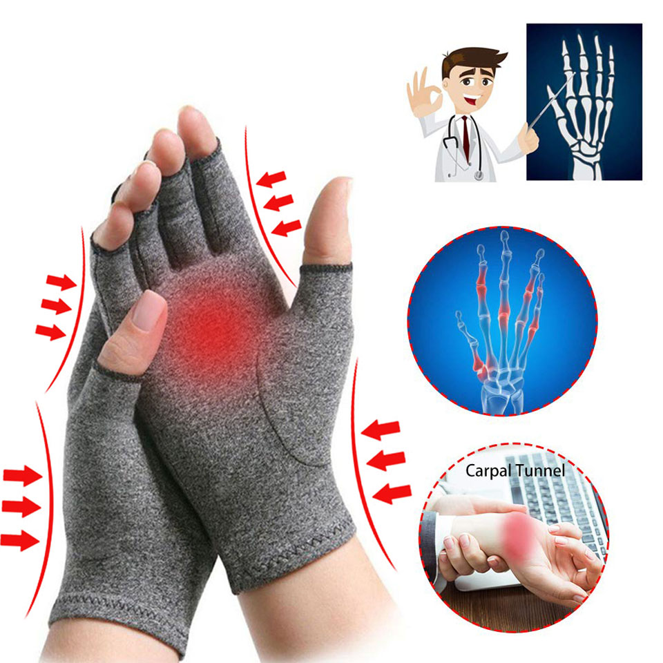1 Pair Adult Rheumatoid Compression Hand Glove For Osteoarthritis Arthritis Joint Pain Relief Wrist Support