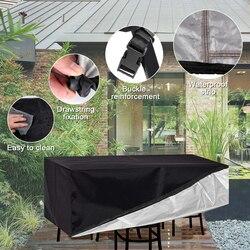 Meble ogrodowe rattanowe meble narożne pokrowiec na zewnątrz wodoodporna Sofa Protect Set pokrowce na sofy pokrowiec na meble ogrodowe