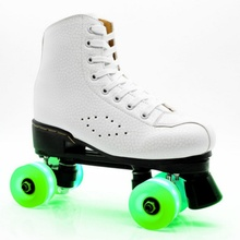 4pcs Glow Inline Skate Wheels Beginner's Roller Replacement Flashing Lights Wheel With Bearings Scooter Wheel