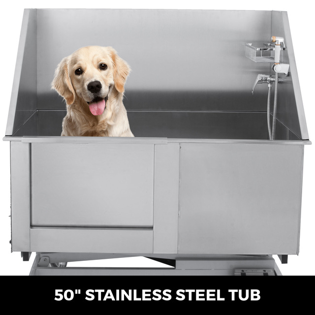 Electric Lift Dog Washing Tub with High Pressure Sprayer  4