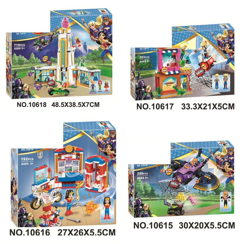 719pcs DC Girls Compatible With Legoinglys Super Heroes High School 10618 Model Building Blocks Assemble Bricks Children Toys