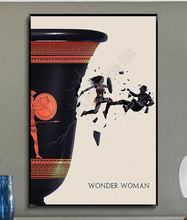 W239 Wonder Woman Hot Movie Trend hermosa tela de seda de moda póster de pared arte decoración pegatina brillante(China)