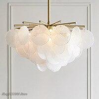 modern Frosted glass LED chandelier Gold Metal Living Room Chandelier bedroom hanging lamps dining room luxury lighting fixtures