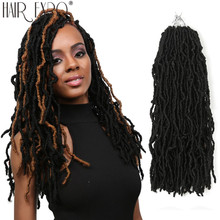 цена на 18inch Goddess Faux Locs Crochet Hair Nu Locs Synthetic Ombre Braiding Hair Extensions Fashion Dread For Women Hair Expo City