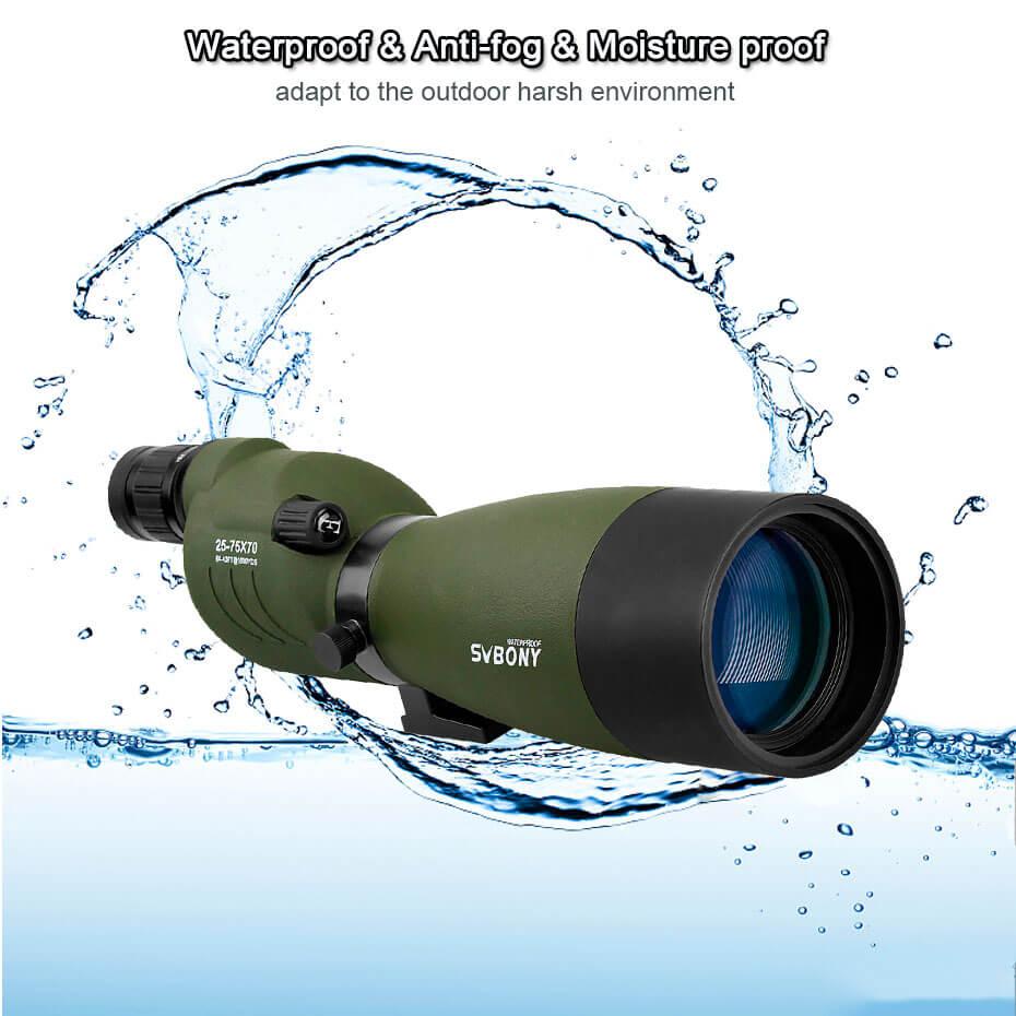 Svbone 25-75x70mm longue-vue SV17 BAK4 étanche droite 180 De Zoom télescope pour l'observation des oiseaux chasse F9326G - 6