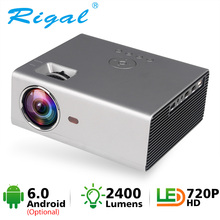 Rigal Mini proyector LED RD825 Native1280 x 720P Android 6 apoyo HD1080P portátil 3D TV casa teatro WIFI Bluetooth projetor Altavoz incorporado