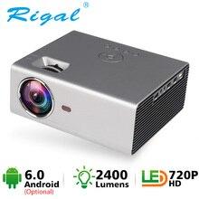 RigalミニledプロジェクターRD825 Native1280 × 720 1080pアンドロイド6サポートHD1080Pポータブル3Dテレビホームシアターwifi bluetooth projetor