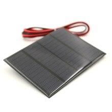 لوحة طاقة شمسية 1.5 واط 12 فولت مع 100 سنتيمتر تمديد سلك خلية شمسية صغيرة لتقوم بها بنفسك للبطارية شاحن الهاتف وحدة المحمولة الكريستالات
