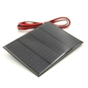 Image 1 - 태양 전지 패널 1.5W 12V 100cm 연장 와이어 미니 태양 전지 DIY 배터리 전화 충전기 휴대용 모듈 다결정