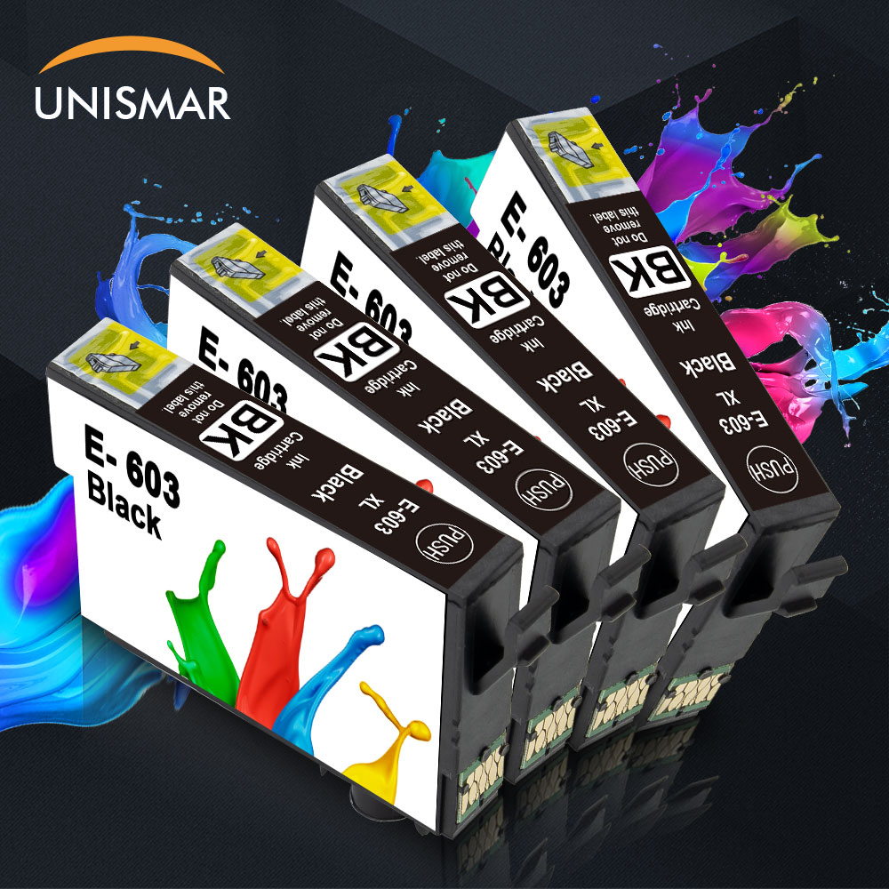 4PCS 603XL Ink Cartridge for <font><b>Epson</b></font> 603 XL E-603 Black Color WF-2810 WF-2830 WF-2850 <font><b>XP</b></font>-<font><b>2100</b></font> <font><b>XP</b></font>-2105 <font><b>XP</b></font>-3100 <font><b>XP</b></font>-3105 Printer image