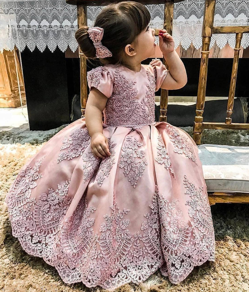 SexeMara Newborn Baby Girl Dress Long Kids Clothes For Girls 1st Year Birthday Party Wedding Occasion Infant Toddler 0-14yrs Kid