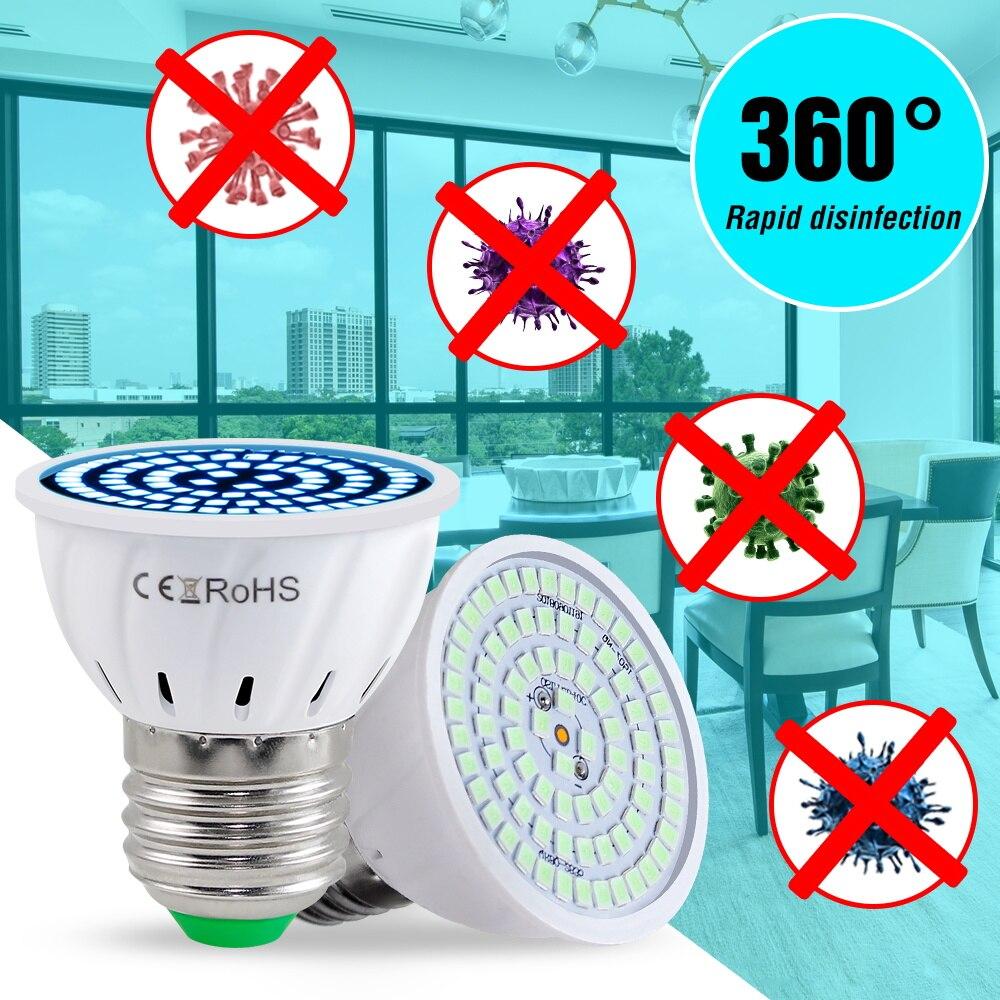 Ultraviolet Light Led E27 UV Ozone UVC Sterilizer Lamp LED E14 Germicidal Bulb MR16 GU10 Disinfection Ampoule Led 220V Home Lamp