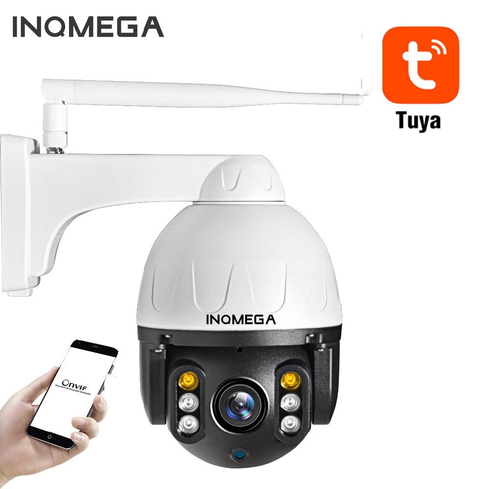INQMEGA 2MP Tuya PTZ IP Camera Wifi Mini Speed Dome Camera Outdoor Waterproof Home security camera Metal Material Night Vision