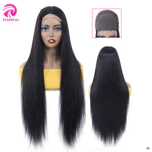 TIANTAI Closure Wig Human-Hair Lace 150-Density 28inch Remy Straight Woman Brazilian