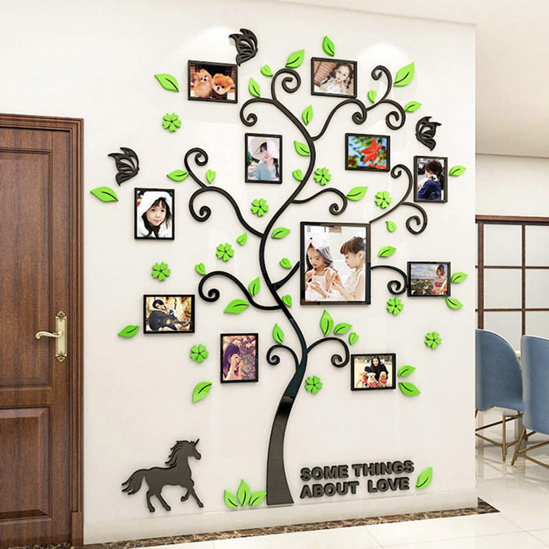Large Photo Tree Wall Stickers Home Decor Living Room Bedroom 3d Wall Art Decals