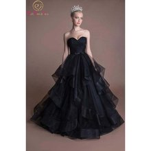 Фантастические черные свадебные платья без рукавов бальное платье