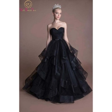 Fantastic Black Wedding Dresses Sleeveless Ball Gown Lace Up Sweetheart Neck Organza Bow Princess Ruffles Lace Up Bridal Gowns lace up front sweetheart neck plaid bandeau top