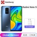 Глобальная версия Xiaomi Redmi Note 9 4GB RAM 128GB ROM Helio G85 Восьмиядерный мобильный телефон 6,53