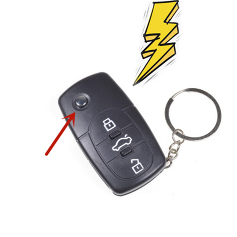 1PCS Electric Shock Car Remote Control Key Practical Joke Gag Prank Funny Trick Fun Gadget April Fool Toy