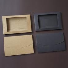10pieces/Lot Postcard Window-Envelopes Kraft-Paper Greeting-Card Black-Card Vintage Hollow
