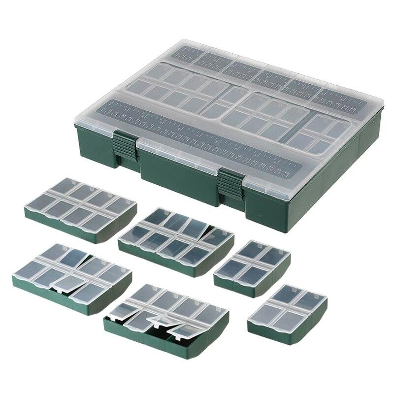 7 в 1 полный ящик для рыболовных снастей 4 отделения/6 отсеков/8 отсеков ящик для хранения снастей для рыбалки Acces