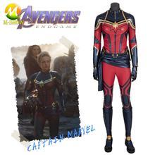 2019 Cosplay Avengers Endgame Captain Marvel Cosplay Costume Superhero Carol Danvers Cosplay Jumpsuit Halloween Costume Women
