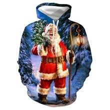 2020 Christmas Women Hoodies Casual Long Sleeve Santa Claus Print Sweatshirt American Female Loose Pullovers Tops Plus Size plus size christmas kind santa claus sweatshirt