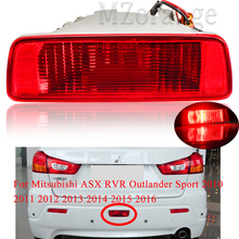 Rear Bumper Reflector Light For Mitsubishi ASX RVR Outlander Sport 2010 -2016 Middle Reflector 8337A092 Tail Stop Brake Lights накладка заднего бампера mitsubishi mz576692ex для mitsubishi asx 2016