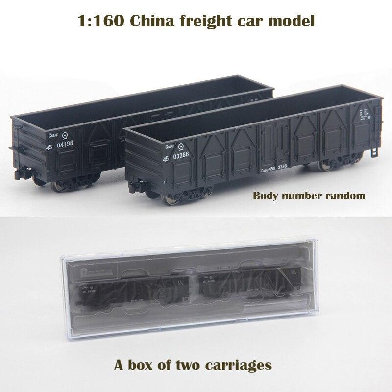 1: 160 chine modèle de voiture de fret une boîte de deux voitures Train sable table matériel NC62 N rapport nombre de corps aléatoire