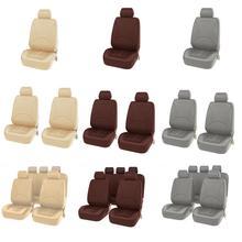 9PCS Styling universale Set completo in pelle sintetica accessori per la protezione del sedile in ecopelle copertura dellautomobile protezione del seggiolino auto