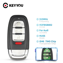 KEYYOU Smart Key For Audi Remote Car Key Keyless 4 Buttons 315MHz IYZFBSB802 For Audi A4 A5 S4 S5 Q5 2008 2009 2010 2011 2012