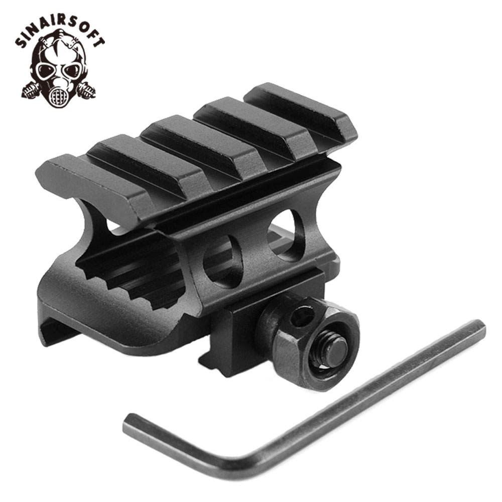 20mm Weaver Picatinny Rail With 4 Slot Aluminum Alloy Adapter Bracket Riser Base Scope Mount For Hunting Paintball Accessories