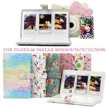 96 Pockets 3 inch PU Leather Instant Photo Album Picture Case for Fujifilm Instax Mini8/9/7s/7C/25/70/90 Mini Film Photo Albums original fujifilm 10 sheets instax mini stripe instant film photo paper for instax mini 8 7s 25 50s 90 9 sp 1 sp 2 camera