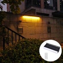 A arruela da parede conduziu luzes solares powred com parede de controle remoto 36led lâmpada solar para a iluminação da paisagem ao ar livre