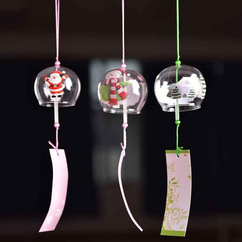 Jepang Gaya Natal Dekorasi Gantung Lonceng Angin Berkat Gadis Rumah Dekorasi Aksesoris Kerajinan Lonceng Angin Kantor Liontin