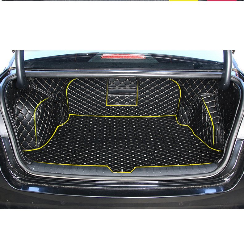 Lsrtw2017 Leather Car Trunk Floor Mat Cargo Liner for Kia K5 Optima 2016 2017 2018 2019 2020 Rug Carpet Interior Accessories image